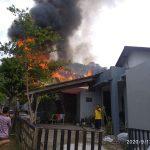 Satu Unit Rumah Hangus Terbakar, Dua KK Terpaksa Diungsikan