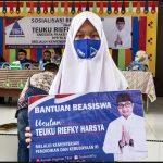 TRH Luncurkan Beasiswa Kartu Indonesia Pintar (PIP) di SMP N 1 Labuhan Haji
