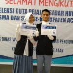 Lomba Seleksi Duta Pelajar Sadar Hukum, Natasya dan Rio Fauzzia Utusan ke Provinsi Aceh