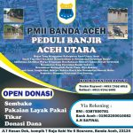 PMII Banda Aceh Peduli Banjir Aceh Utara