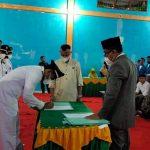 Camat Samadua Suhaimi Shalihin Lantik 9 Keuchik Periode 2021-2027