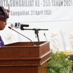 Peringati HUT ke 255 Kota Sungailiat, Pemkab Gelar Paripurna Istimewa