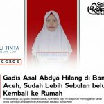 Gadis Asal Abdya Hilang Di Banda Aceh