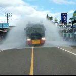 Menjelang Hari Raya Idul Fitri, Sat Brimob Aceh Lakukan Penyemprotan Disinfektan