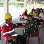 Kodim 0101 gelar vaksinasi Covid-19 bagi Karyawan PT. SBA dan warga Lhoknga