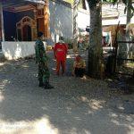 Babinsa Koramil 03/Meukek Anjangsana ke Desa Binaan Sekaligus Memantau Penerapan Protkes