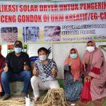 Bantu Pengrajin Eceng Gondok, Dosen Teknik Pertanian USK Aplikasikan Solar Dryer