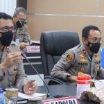 Vidcon Dengan Kapolri, Kapolda Aceh Dengar Arahan Anev Pelaksaan Covid-19