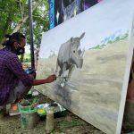 Rhino Day, Anak Muda Banda Aceh Lakukan Kampanye Perlindungan Badak Melalui Mural
