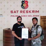Kasus Penghinaan LSM Libas dan Wartawan Resmi Dilaporkan Ke Polres Aceh Selatan