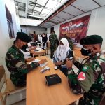 Dandim 0107/Asel meninjau Pelaksanaan Vaksinasi Pengabdian 33 Tahun AKABRI 1989 di Aceh Selatan